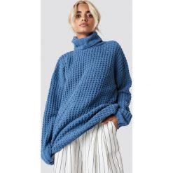 NA-KD Trend Gruby sweter oversize - Blue. Niebieskie golfy damskie NA-KD Trend, z dzianiny. Za 161,95 zł.