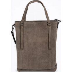 """Torebki i plecaki damskie: Skórzany shopper bag """"FortyFour"""" w kolorze szarym – 38 x 40 x 12,5 cm"""