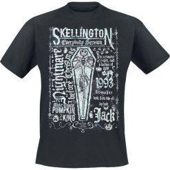 T-shirty męskie z nadrukiem: Miasteczko Halloween Coffin T-Shirt czarny
