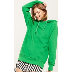 Długa bluza z kapturem - Zielony. Zielone bluzy rozpinane damskie House, l, z długim rękawem, długie, z kapturem. W wyprzedaży za 49,99 zł.