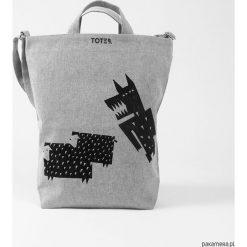 Shopper bag damskie: Ekologiczna torba z wilkiem