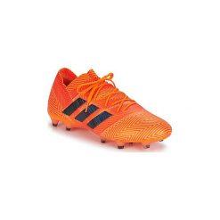Buty do piłki nożnej adidas  NEMEZIZ 18.1 FG. Białe halówki męskie marki Adidas, m. Za 775,20 zł.