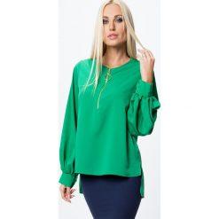 Koszula z rozszerzanymi rękawami zielona MP26022. Zielone koszule damskie Fasardi, l. Za 39,00 zł.