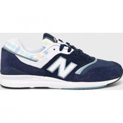 New Balance - Buty WL697TRB. Szare buty sportowe damskie marki New Balance, z gumy. W wyprzedaży za 379,90 zł.
