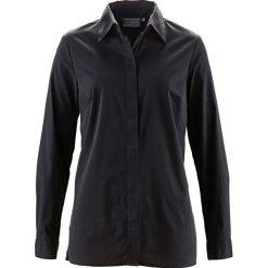Długa bluzka ze stretchem bonprix czarny. Czarne bluzki asymetryczne bonprix, z długim rękawem. Za 74,99 zł.