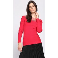 Czerwony Sweter Morning Walk. Czerwone swetry klasyczne damskie Born2be, l. Za 69,99 zł.