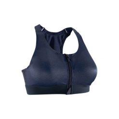 Stanik fitness kardio 900. Niebieskie biustonosze sportowe marki DOMYOS, z elastanu. Za 64,99 zł.