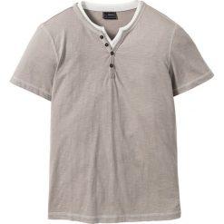 Koszulki męskie: T-shirt Regular Fit bonprix beżowo-szary