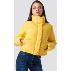 Hannalicious x NA-KD Krótka kurtka ocieplana - Yellow. Żółte bomberki damskie Hannalicious x NA-KD, z materiału. Za 323,95 zł.