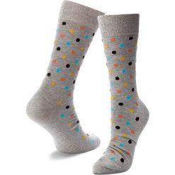 Skarpety Wysokie Męskie HAPPY SOCKS - DOT01-9001 Szary. Szare skarpetki męskie Happy Socks, z bawełny. Za 34,90 zł.