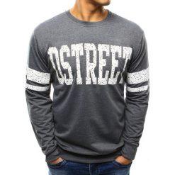 Bluzy męskie: Bluza męska z nadrukiem antracytowa (bx3281)