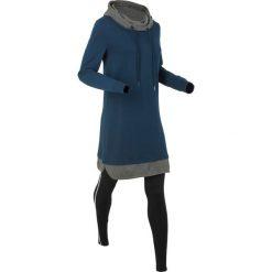 Bluzy damskie: Długa bluza dresowa z legginsami bonprix ciemnoniebiesko-czarny