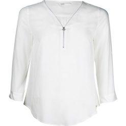 Bluzy rozpinane damskie: Bluza dekolt w serek, długi rękaw
