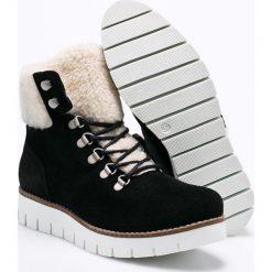 Vero Moda - Botki Vrist. Szare buty zimowe damskie marki Vero Moda, z materiału, na obcasie, na sznurówki. W wyprzedaży za 269,90 zł.