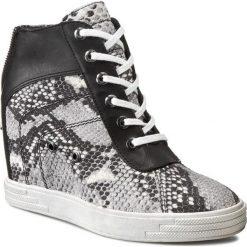 Sneakersy CARINII - B3066  Crotalo Vero Opalo Roccia/Classic Nero. Czarne botki damskie skórzane Carinii, na koturnie. W wyprzedaży za 249,00 zł.