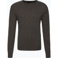 Swetry klasyczne męskie: Andrew James – Sweter męski z czystego kaszmiru, brązowy