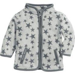 Bluza w kolorze biało-szarym. Białe bluzy niemowlęce Playshoes, w paski, z materiału. W wyprzedaży za 47,95 zł.
