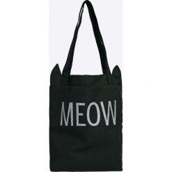 Answear - Torebka. Czarne torebki klasyczne damskie ANSWEAR, z materiału, duże. W wyprzedaży za 34,90 zł.