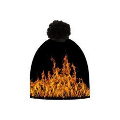 Czapka hauer FIRE. Czarne czapki zimowe męskie marki Hauer, z nadrukiem, z polaru. Za 69,00 zł.