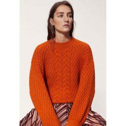Swetry klasyczne damskie: Mango – Sweter Wisdom