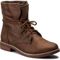 Botki JENNY FAIRY - WYL1126A-1 Brązowy. Brązowe buty zimowe damskie marki Jenny Fairy, z materiału, na obcasie. W wyprzedaży za 65,00 zł.
