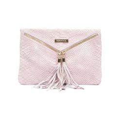 Torebki klasyczne damskie: Skórzana torebka w kolorze jasnoróżowym – (S)19 x (W)19 cm