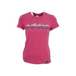 Bluzki damskie: Adidas Koszulka damska Logo Crew różowa r. S