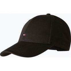 Tommy Hilfiger - Męska czapka z daszkiem, czarny. Czarne czapki z daszkiem męskie TOMMY HILFIGER, w jednolite wzory, z bawełny, klasyczne. Za 129,95 zł.