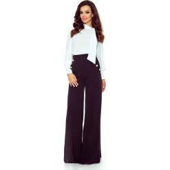 Eleganckie spodnie z wysokim stanem czarny. Czarne spodnie z wysokim stanem Bergamo. Za 249,99 zł.
