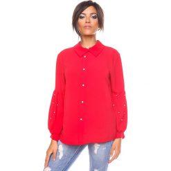"""Bluzki asymetryczne: Bluzka """"Raquel"""" w kolorze czerwonym"""