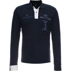 La Martina FLOYD Koszulka polo navy. Niebieskie koszulki polo La Martina, m, z bawełny, z długim rękawem. Za 669,00 zł.