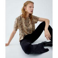 T-shirty damskie: Koszulka z nadrukiem węża