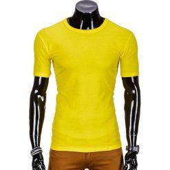 T-SHIRT MĘSKI BEZ NADRUKU S620 - ŻÓŁTY. Żółte t-shirty męskie z nadrukiem marki ATORKA, xs, z elastanu. Za 12,99 zł.