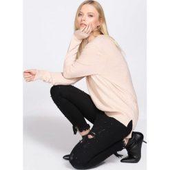 Odzież damska: Jasnoróżowy Sweter Demanding