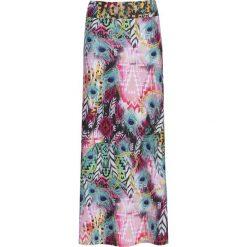Długie spódnice: Długa spódnica plażowa bonprix jasnoróżowo-niebieski wzorzysty