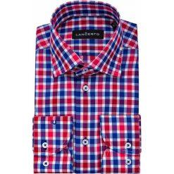 Koszula w Kratę Haria. Czerwone koszule męskie jeansowe LANCERTO, m. Za 299,90 zł.
