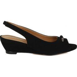 Rzymianki damskie: Czarne sandały damskie