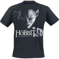 Hobbit Sméagol T-Shirt czarny. Czarne t-shirty męskie z nadrukiem Hobbit, m, z okrągłym kołnierzem. Za 74,90 zł.