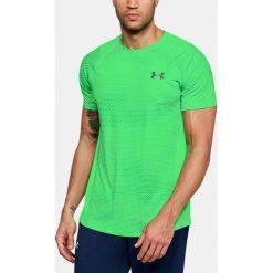 Under Armour Koszulka męska Raid 2.0 SS Left Chest  701 Green r. XL (1323415). Szare koszulki sportowe męskie marki Under Armour, z elastanu, sportowe. Za 109,46 zł.