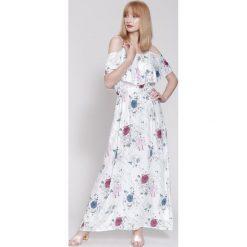 Sukienki: Biała Sukienka Poetic Painting