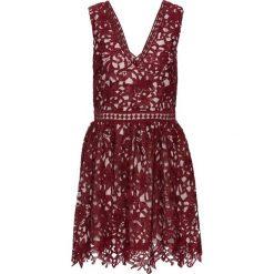 Sukienki: Sukienka koronkowa bonprix czerwonobrązowo-różowy