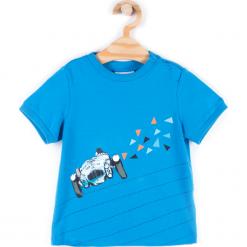 Koszulka. Niebieskie t-shirty chłopięce z długim rękawem HEY BOY, z bawełny. Za 24,90 zł.