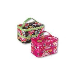 Kosmetyczki damskie: TOP CHOICE Kosmetyczka damska Flower kuferek podwójny (92718)