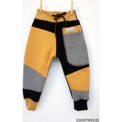 Spodnie dresowe dziewczęce: PATCH PANTS spodnie 74 - 98 cm szary & czarny