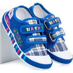 Dziewczęce trampki w kratkę ALIVIA. Niebieskie trampki chłopięce marki HASBY, w kratkę. Za 36,90 zł.
