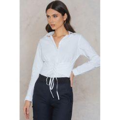 Koszule body: Rut&Circle Koszula z wiązaniem w talii Milly - White