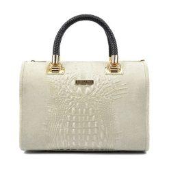 Torebki klasyczne damskie: Skórzana torebka w kolorze beżowym – (S)32 x (W)24 x (G)17 cm