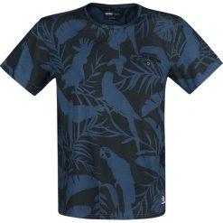 T-shirty męskie z nadrukiem: Khujo Tevarez T-Shirt niebieski/czarny