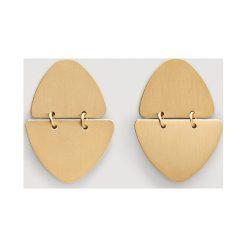 Mango - Kolczyki Chelsea. Brązowe kolczyki damskie Mango, metalowe. Za 49,90 zł.