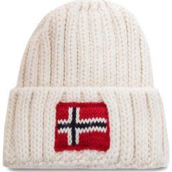 Czapka NAPAPIJRI - K Semiury 2 N0YID2 Bright White 002. Białe czapki zimowe damskie marki Napapijri, z materiału. W wyprzedaży za 139,00 zł.